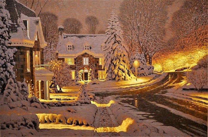 Зимняя сказка в картинах Ришара Савуа