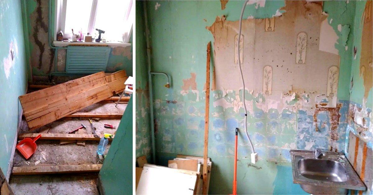 недорогой ремонт кухни