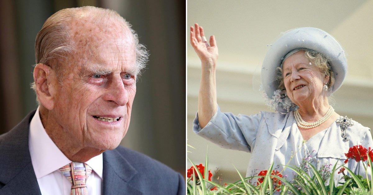 Принц Филипп и королева-мать