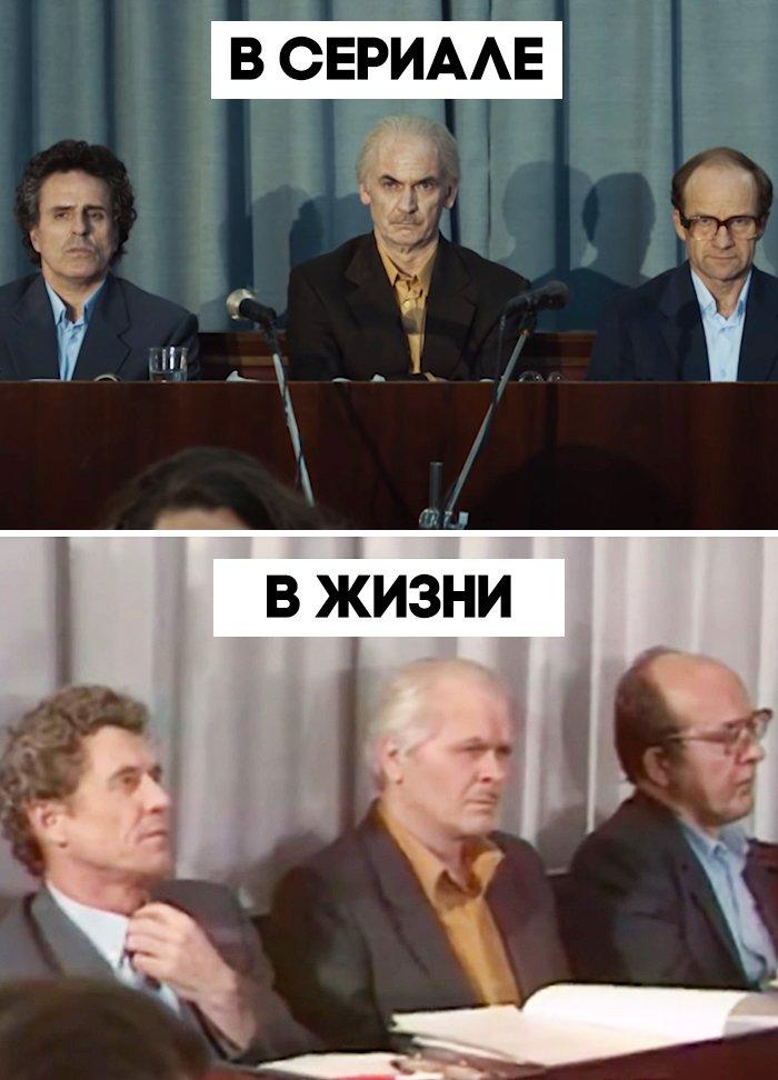 Покадровое сравнение сериала «Чернобыль» с документальными съемками с места катастрофы